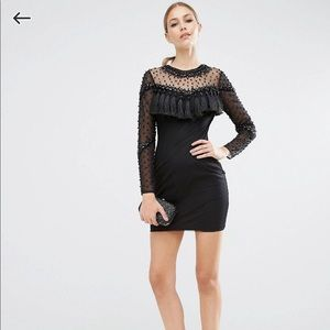 ASOS Dresses - Mesh Bodycon dress. Size xs/UK 4. Never worn.